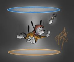 Wakko Warner ''Playing'' Portal by PlutoEmmaLoo