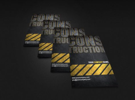 construction business card by mct2art