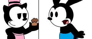 Ortensia gets the cookie first before Oswald by ElMarcosLuckydel96