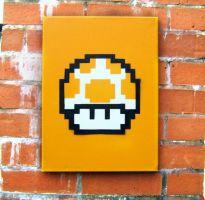 Super Mario Mushroom Stencil by UrbanArtPreston