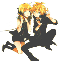 Kagamine Len and Rin Render (Remote Control) by KiritoWaifu