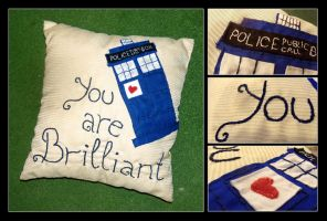 TARDIS Pillow by Mellindor