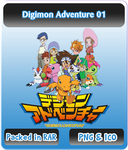 Digimon Adventure 01 - Anime Icon by Rizmannf
