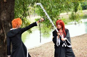 Bleach: Afternoon Sparring by HRecycleBin