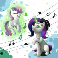 Singing by the Sweetie Belle by Mimkage