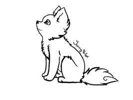 Line Art Dog by SolarXolverite