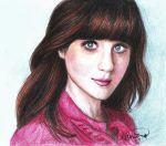 Zooey Deschanel by vivsters