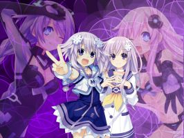 Hyperdimension neptunia Wallpaper Ipad Verson by missy28352