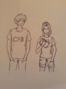 My First Percabeth Drawing!!! by TheForgottenWeasley