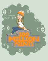 100millionPOINTS - ID contest by Biila