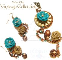 Wired Clay Vintage Col. Set by colourful-blossom