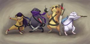 Battle Guinea Pigs by SofieGraham