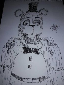 Withered Freddy DRAW by PuppetProductions