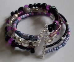 black and purple cuff by MadDani