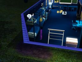 Sims 3 - Violet joins in for bedtime late by Magic-Kristina-KW