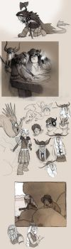 HTTYD fan doodles - EVEN MORE by luve