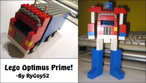 Lego Optimus Prime by RyGuy52