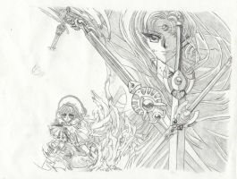 Magic Knight Rayearth Sketch by KrystalNexus