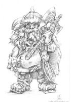 Commission: Dwarf Barbarian by The-Z