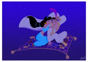 Aladdin And Jasmine by klnie