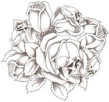 Skulls and Roses by TheLob