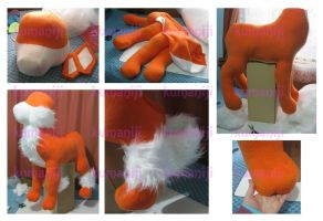 Arcanine 1mt plush WIP1 by chocoloverx3