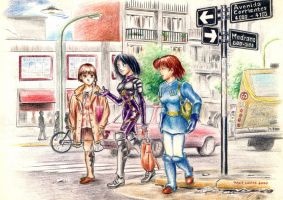 Tourist girls in Buenos Aires by SergioKa
