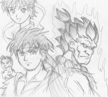 Street Fighterz Sketchz by ViperXtreme