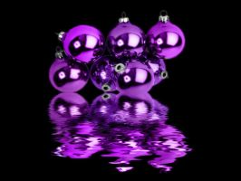 purple ornaments flooded by puddlz