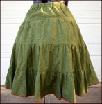 Green skirt with petticoat by Nerds-and-Corsets