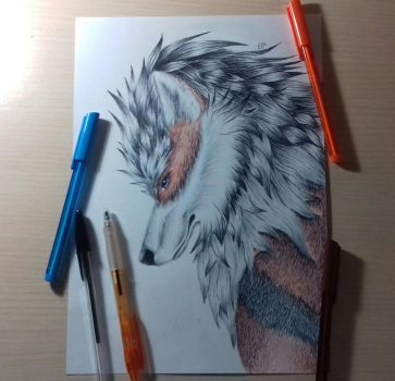 Arcanine- Realistic style [+ video] by ElKhronista