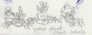 potted plant crab bots by HiddenStash