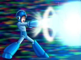 Megaman's Charged Shot by Thriller-Man