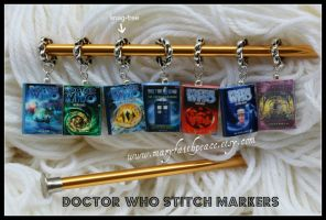 DOCTOR WHO Stitch Markers by maryfaithpeace