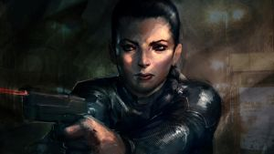Girl with Gun. by AndrewWest