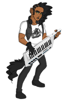 Monster High OC - Thunderstorm Pianist: Rendall by NanaRamos
