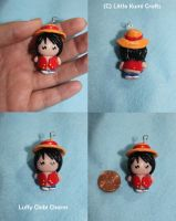 Luffy Chibi Charm by lkcrafts