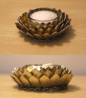 Glass Lotus Flower Holder by SerenFey