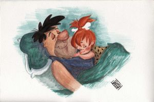 Fred and Pebbles by Schazz