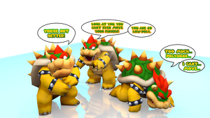 3D Bowser:When Low-Poly meets Hi-Poly(Blender2.65) by MaxiGamer
