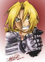Edward Elric- Ready, Steady, Go by FallenDaw