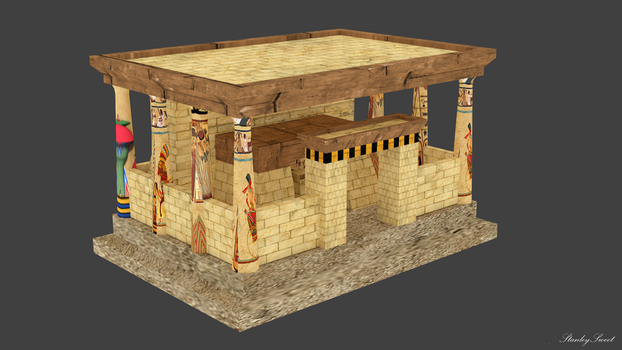 Egyptian Palace Render by StanleySweet