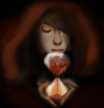 Woman and Heart by Psychowaii