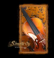 Simplicity: Golden Violin 3 by macheli