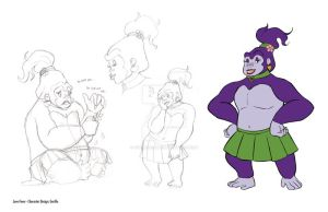 Love Fever: Gorilla Character Design by xYaminogamex