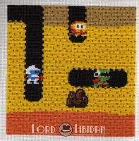 Dig Dug Charity Square XStitch by LordLibidan