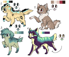 .:CLOSED:.Canine Point Set 1 by Anni-Adoptables