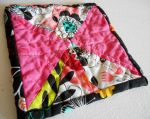 Hot Pink and Black Hourglass Hot Pad by ChaosFay