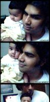 Daddy with Aafia by aash