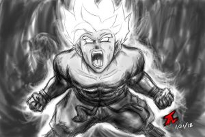 Super Saiyan Goku Sketch by TLCreate